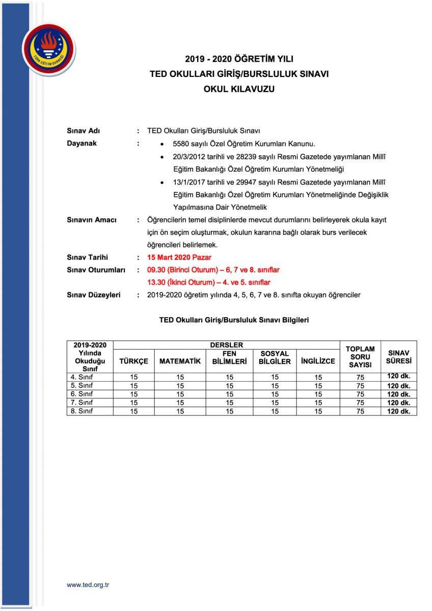 15 Mart 2020 OGBS kılavuzunu incelemek/indirmek için tıklayınız...